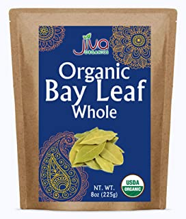 Jiva Organic Bay Leaves Whole 8 Ounce Bulk Bag