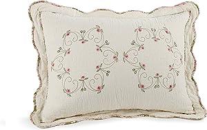 Modern Heirloom Collection Felisa Cotton Filled Bedspread, Standard Sham, 20 by 26-Inch