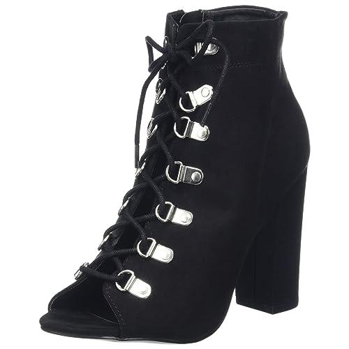 5eccbfefe69d Womans Summer Boots Peep Toe  Amazon.co.uk