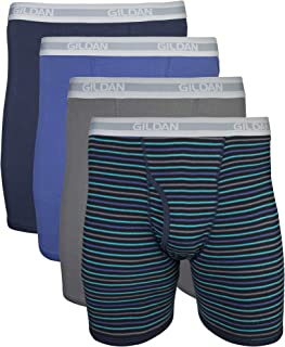 Men's Regular Leg Boxer Brief 4 Pack, XX-Large, Mixed Navy