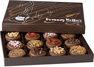 Granny Bella's Christmas Gourmet Cookies Gift Baskets, Milk Chocolate Covered Sandwich Cookie Box Birthday Gifts For Women...