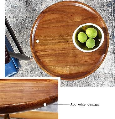 WKZ Table De Chevet en Bois Massif,Quelques Tables De Chevet Hautes étroites Petit Côté,Mini Table Basse avec Table D'app