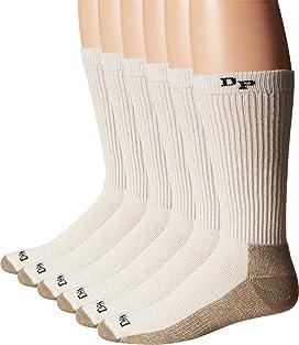 Dan Post Work & Outdoor Socks Mid Calf Mediumweight Steel Toe 6 pack