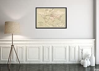 1898 Map World Carte généRale des Grandes Communications télégraphiques du Monde Insets: Terre-N|Historic Antique Vintage Reprint|Ready to Frame