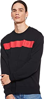 Fred Perry Mens Printed Chest Panel Sweat Sweatshirts