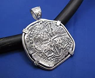 Large Sterling Silver Replica Pirate Coin Piece of Eight