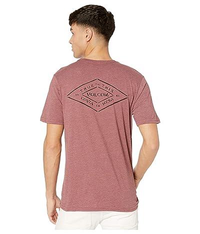 Volcom Import Pocket Short Sleeve Tee (Crimson) Men