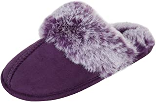 دمپایی دخترانه جسیکا سیمپسون دمپایی راحت - کفش خز ناز Faux Ful Slipper Memory Foam House Slipper