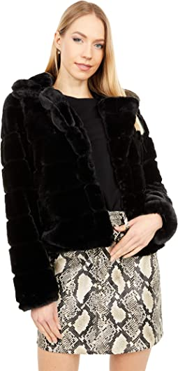 Quilted Faux Fur Coat