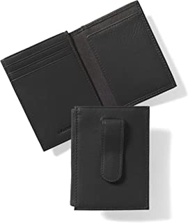 Leatherology Men's Money Clip Card Holder Wallet with ID Window