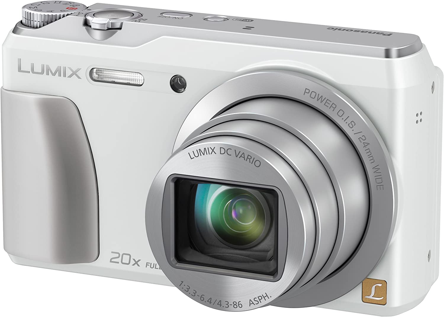 Panasonic DMC-ZS35W Digital Camera with White Excellence LCD TFT Special price 3.0-Inch