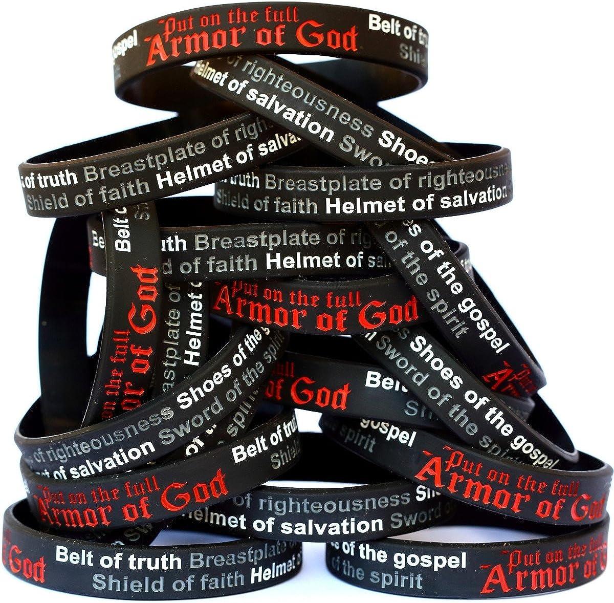 SayitBands 20 Child Armor of Over item handling Bracelets Direct store Ephesians God Wristband 6