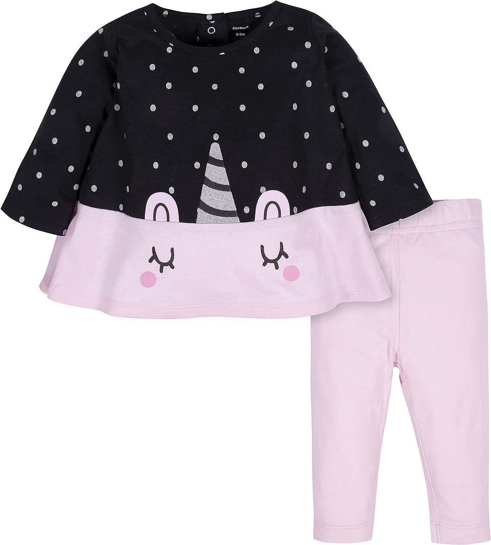 Gerber baby-girls Long Sleeve Tunic and Legging Set