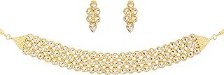 "Touchstone""Contemporary Kundan Collection"" Indian Bollywood traditional Mughal Kundan polki bridal designer jewelry choker..."