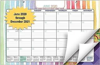 """Desk Calendar 2020-2021: 11""""x17"""" - (Runs from June 2020 Through December 2021) (1 Pack) (June 2020 - December 2021)"""
