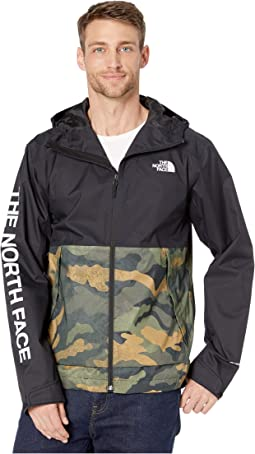 Burnt Olive Green Waxed Camo Print/TNF Black