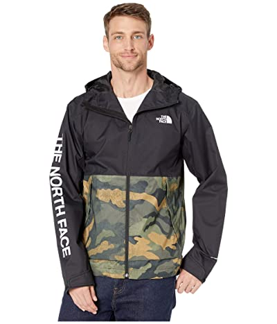 The North Face Millerton Jacket (Burnt Olive Green Waxed Camo Print/TNF Black) Men