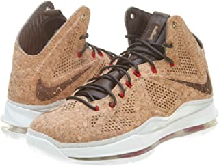Lebron X Ext Cork QS Men's Basketball Shoes Classic Brown/University Red Hazelnut