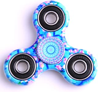 Kirinstores(TM)3D Fidget Spinnerハンドトライアングルフィンガースピナーカラフルなおもちゃ マンダラ (マンダラブルー ( Mandalas Blue ))