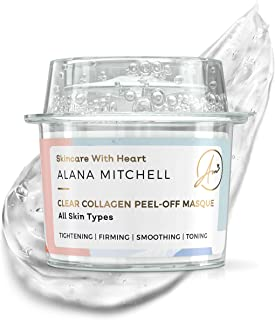 Anti Aging Peel Off Collagen Face Mask For All Skin Types - Single Use - By Alana Mitchell Instantly Reduces Wrinkles and Fine Lines - Tightening Firming Smoothing and Toning - All Natural Formula