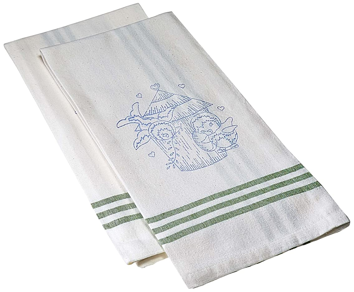 Tobin T212935 Stamped Kitchen Towel for Embroidery, Bird