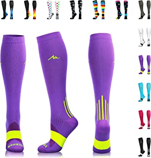 NEWZILL Compression Socks (20-30mmHg) for Men & Women - Best Stockings for Running, Medical, Athletic, Edema, Diabetic, Varicose Veins, Travel, Pregnancy, Shin Splints