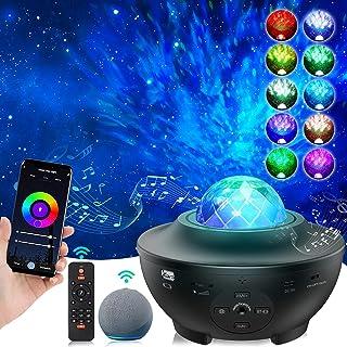 LYMIUS LED Sternenhimmel Projektor Arbeite mit Alexa, Smart Wifi Ozeanwellen Projektor mit Musiklautsprecher, Einstellbare...