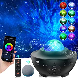 LYMIUS Projecteur ciel étoilé, Wifi Intelligent Planetarium Projecteur avec Haut-parleur Musical, Luminosité Réglable Veil...