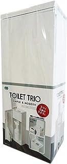 オーエ トイレ収納ケース TOILET TRIO ホワイト 約縦41×横17×奥行12.7cm トイレブラシ トイレ用洗剤 お掃除シートの3つがひとつに収納できる