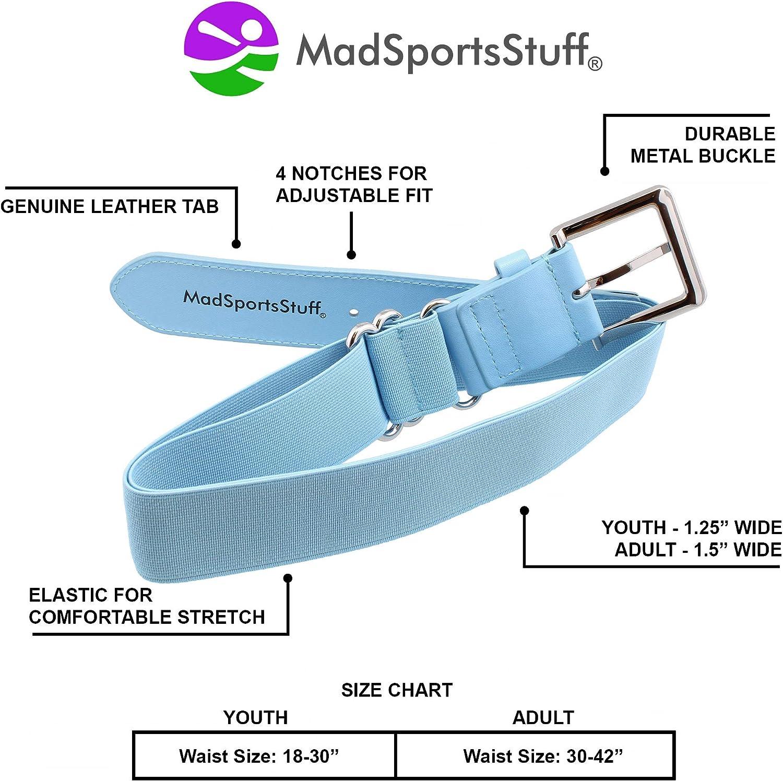 Youth and Adult Sizes Boys Men Girls Women MadSportsStuff Baseball Belt Softball Belt Adjustable