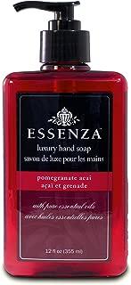 Essenza Hand Soap Pomegranate Acai, Red, 12 Ounce