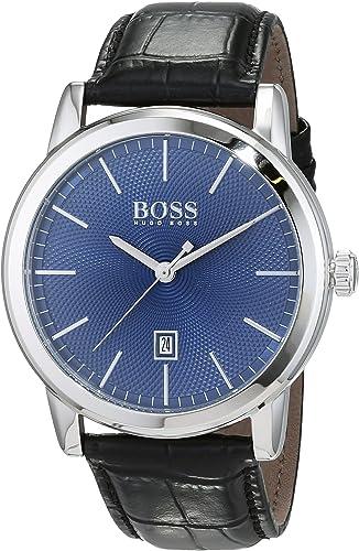 Hugo Boss Homme Analogique Quartz Montre Bracelet avec Bracelet en Cuir 1513400