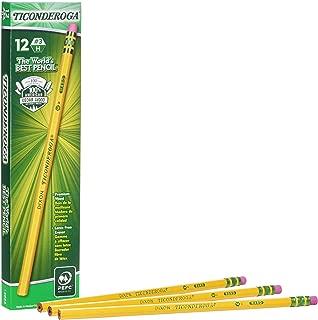 Ticonderoga Pencils, Wood-Cased #3 HB Hard/Fine, Yellow, 12-Pack (13883)