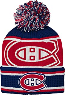 new style 89d09 1a554 Outerstuff NHL Boys Grinder Cuffed Knit Hat with Pom