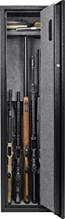 BARSKA Large Quick Access Biometric Rifle Safe Cabinet (13 in x 13 in x 52.25 in)