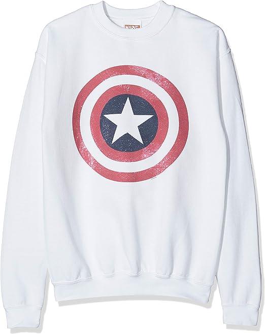 Marvel Avengers Captain America Distressed Shield Camiseta para Niños