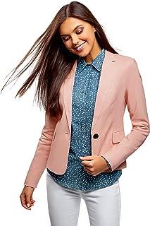 pink linen blazer womens