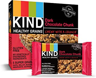 KIND Healthy Grains Bars, Dark Chocolate Chunk, Gluten Free, 1.2 oz, 30 Count