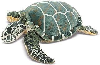 Melissa & Doug Zeeschildpad - natuurgetrouw pluche dier met levensechte gezichtsuitdrukking