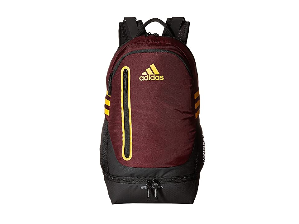 adidas Pivot Team Backpack (Maroon/Collegiate Gold) Backpack Bags