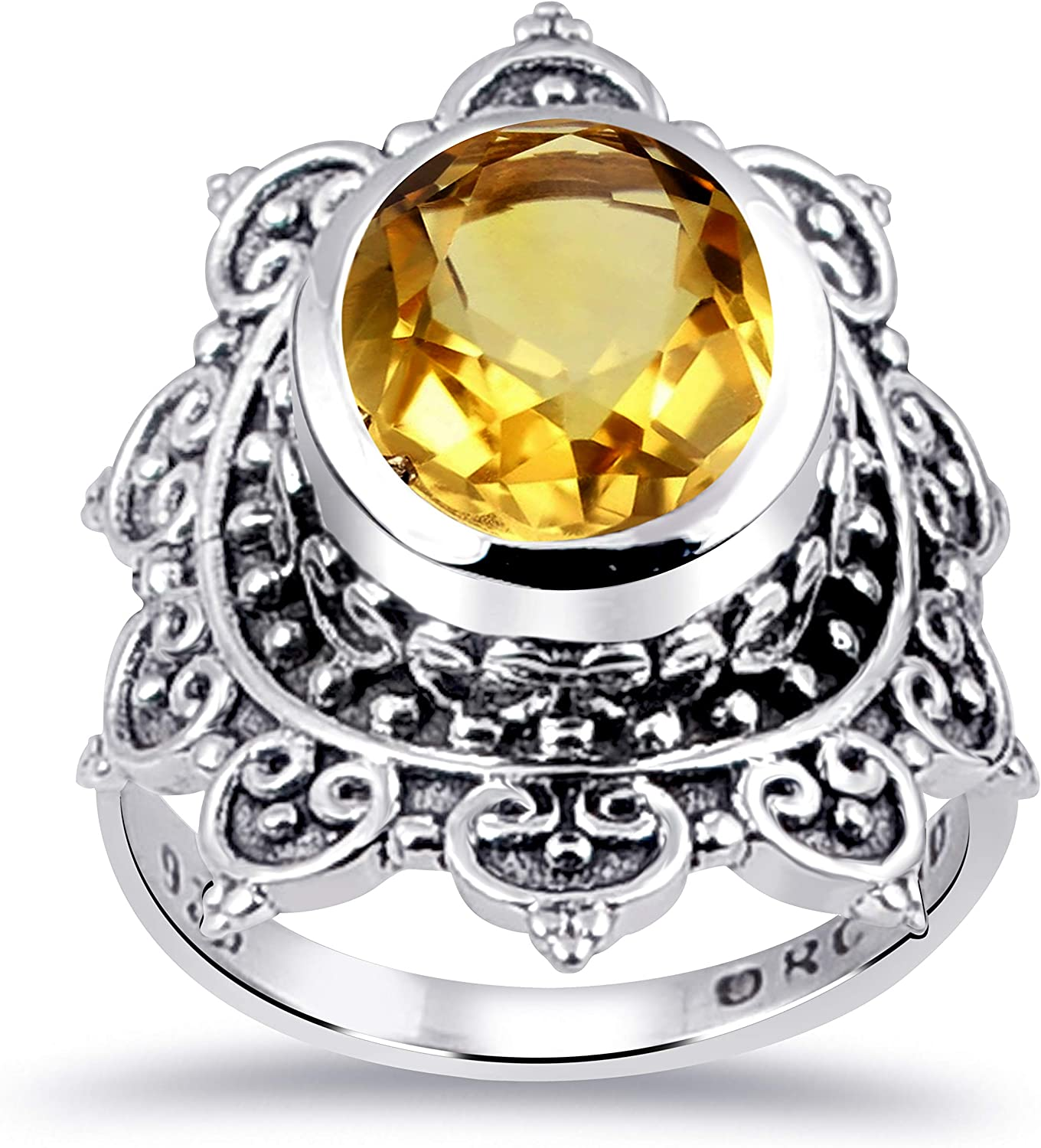 Orchid 超激得SALE Jewelry Sterling Silver Carving Ring 高級 For Multiple Women