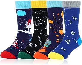Boys Novelty Funny Cotton Crew Socks Crazy Space Food Shark Halloween Design