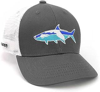 cee55ec0e6042 RepYourWater Florida Tarpon Mesh Back Hat Gray White