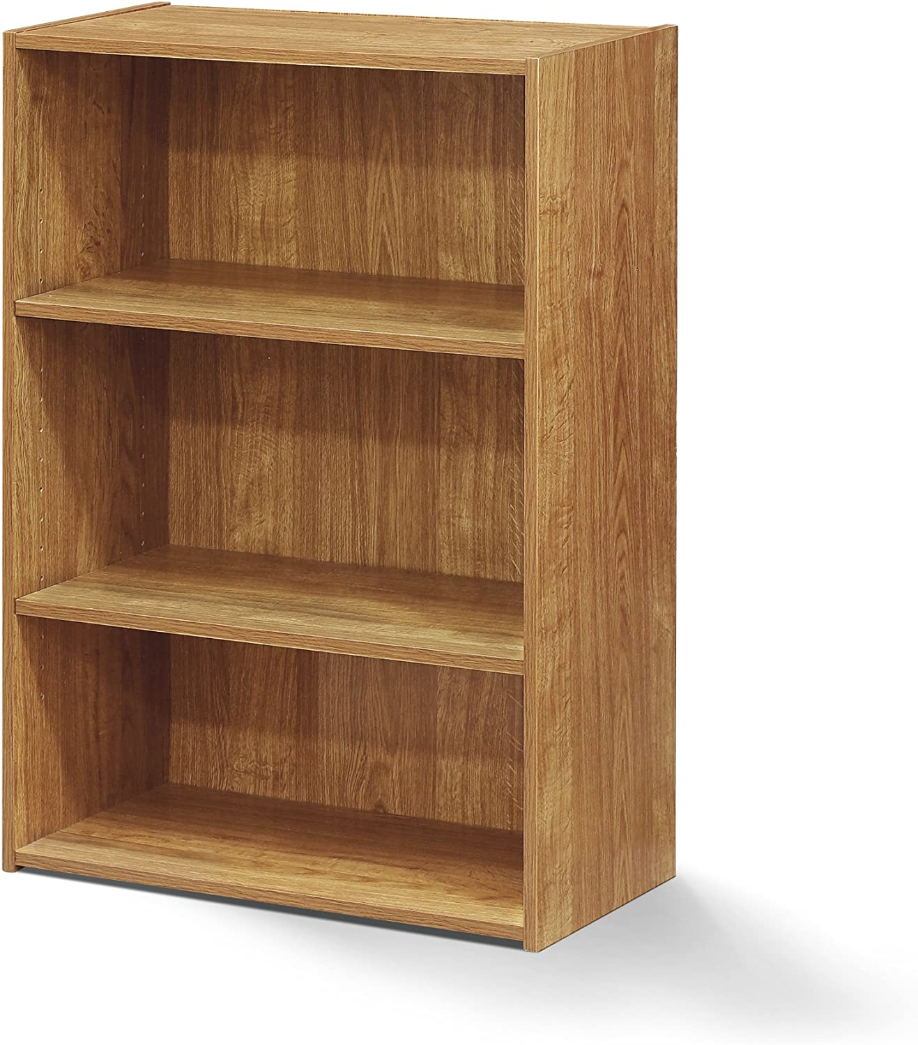 Furinno 17060HO Bookcase, 3 Shelf, Highland Oak