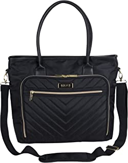 "Kenneth Cole Reaction Women's Chelsea Chevron Quilted 15"" Laptop & Tablet Travel Tote Bag With Removeable Shoulder Strap"