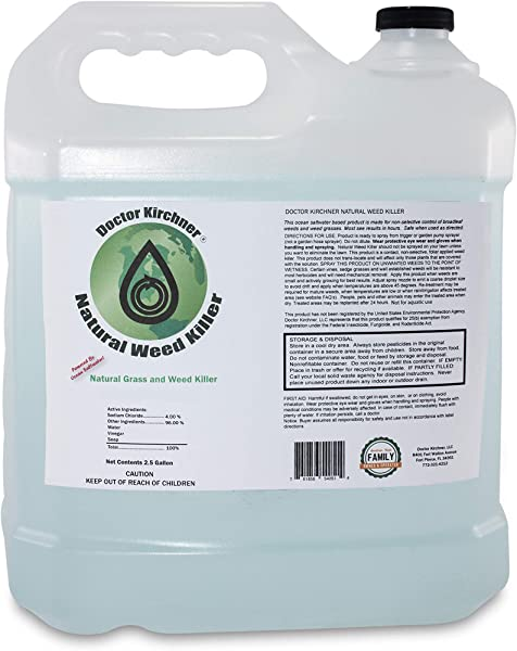 Natural Weed Killer 2 5 Gallon Ocean Water Made Commercial Food Grade Vinegar Pet Safe Kid Safe Safe To Replant Natural Herbicide See Results In Hours