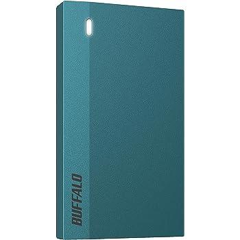 バッファロー SSD 外付け 960GB 超小型 コンパクト ポータブル PS4対応(メーカー動作確認済) USB3.2Gen1 モスブルー SSD-PSM960U3-B/N