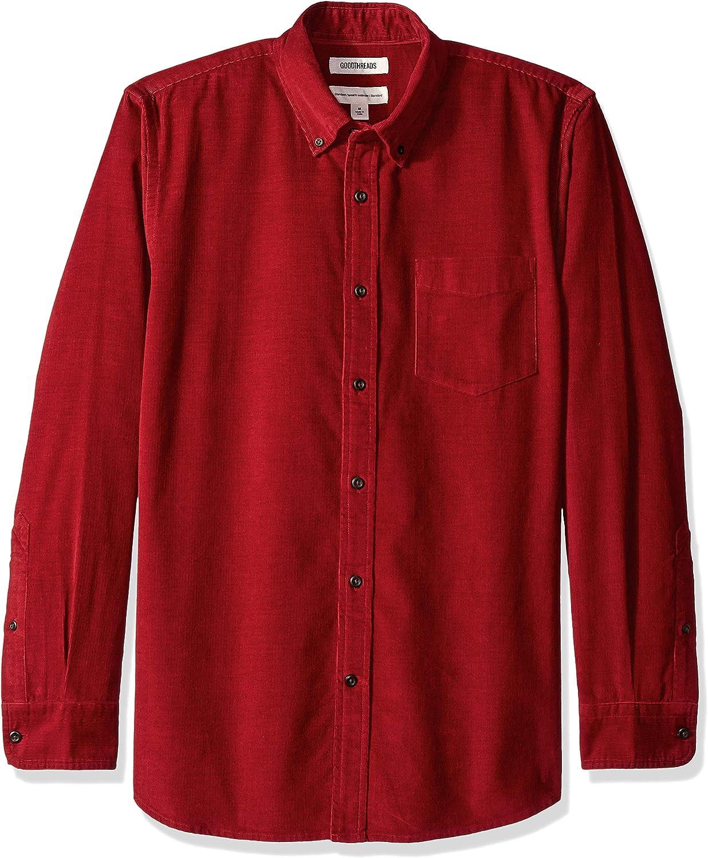 in velluto a coste Goodthreads camicia da uomo a maniche lunghe vestibilit/à standard Marchio