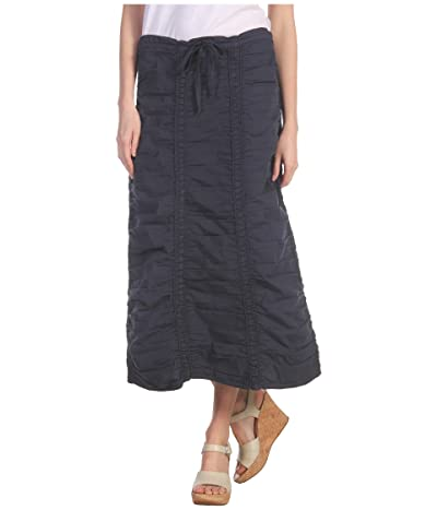 XCVI Stretch Poplin Double Shirred Panel Skirt (Anchor Navy) Women