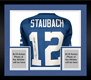 Framed Roger Staubach Dallas Cowboys Autographed Blue Authentic Mitchell & Ness Jersey with